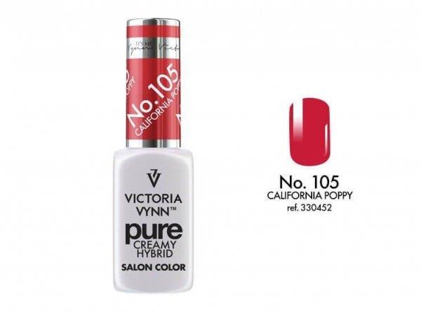 105 California Poppy - kremowy lakier hybrydowy Victoria Vynn PURE (8ml)