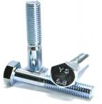 Śruby M12x70 kl.5,8 DIN 931 ocynk - 1kg