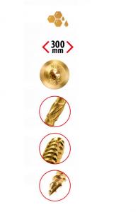 Wkręty ciesielskie 6x200 mm talerzowe - 100 szt