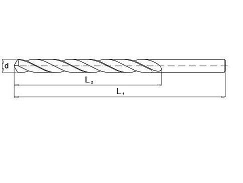 Wiertło do metalu 2,5 mm NWKa HHS BAILDON