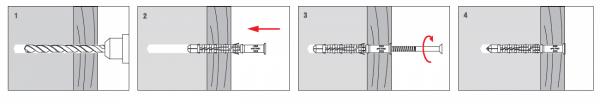 Kołki rozporowe 12x100 KKX - 50szt