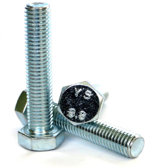 Śruby M20x90 kl.8,8 DIN 933 ocynk - 5 kg