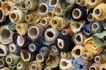 Końcówki, resztki tkanin meblowych,  mix kolorów