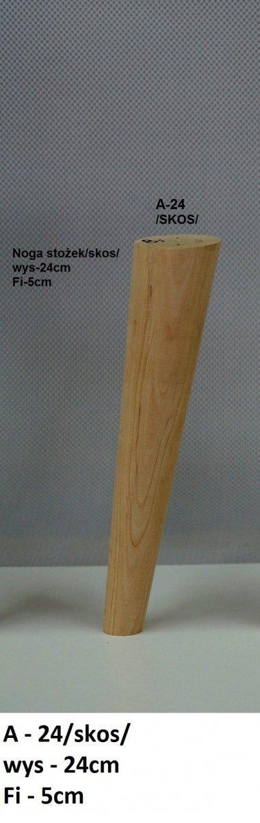 Noga drewniana w kształcie stożka A-24 /skos/