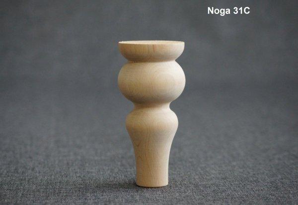 Noga drewniana 31C