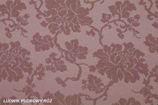 Tkanina Ludwik pudrowy róż