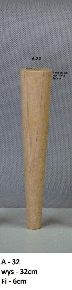 Noga drewniana w kształcie stożka A-32