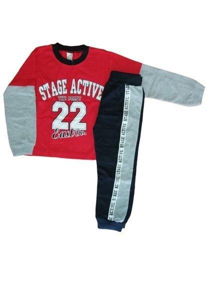 Dres Stage Active spodnie bluza dresowa 0076