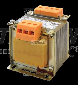 Transformator bezpieczeństwa, jednofazowy 230-400V / 6-12-24V, max.60VA TVTRB-60-A