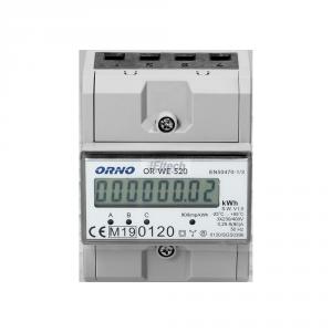 LICZNIK 3-FAZOWY NA SZYNĘ 80A OR-WE-520 ORNO