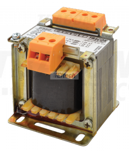 Zwykły transformator jednofazowy 230V / 24-42-110V, max.50VA TVTR-50-D