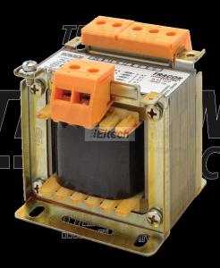Zwykły transformator jednofazowy 230V / 6-12-18-24V, max.50VA TVTR-50-B