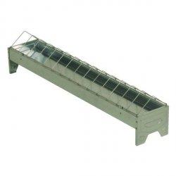 Karmidło korytko ocynkowane dla drobiu 10x75cm