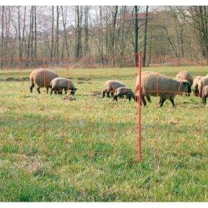 Siatka OviNet dla owiec 50m, 90 cm, podw.szpic, pomarańczowa