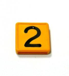 Numer 2 na obroże identyfikacyjną
