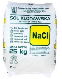 Sól kłodawska naturalna kamienna 25KG