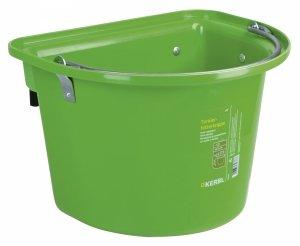 Pojemnik na paszę, wiadro, poidło, karmidło z hakami i pałąkiem, 12L, zielony