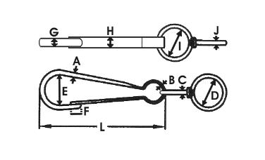 Spinacz do łańcucha z okrętką 40mm