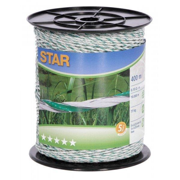 Plecionka STAR 400m biało-zielona
