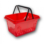 Koszyk sklepowy 20L - II rączki - kolory