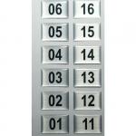 Numeracja stojaka szatniowego SJ.41 - 36 sztuki