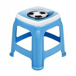 Taboret dziecięcy niebieski - piłka