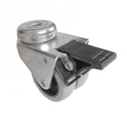 Kółko meblowe podwójne fi50 mocowane na otwór z hamulcem 20 sztuk