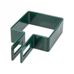 Obejma końcowa 100x100 zielona - 1 sztuka