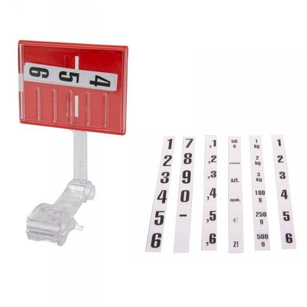 kasetka cenowa z uchwytem klamrowym