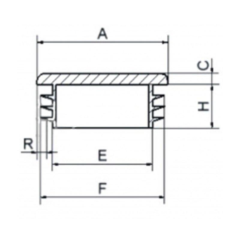 Zaślepka kwadratowa 10x10mm - 100sztuk