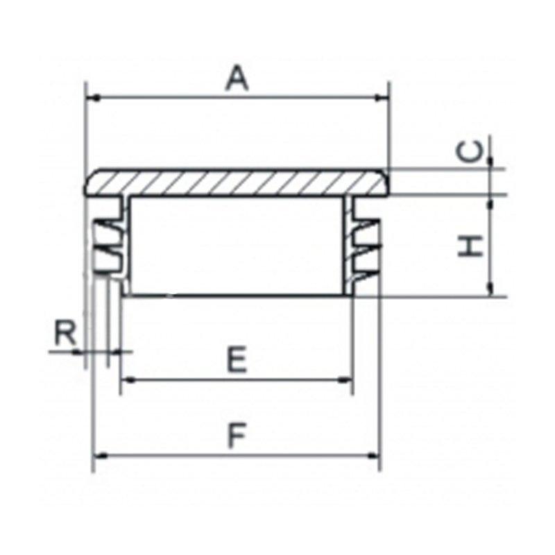 Zaślepka kwadratowa 16x16mm - 100sztuk