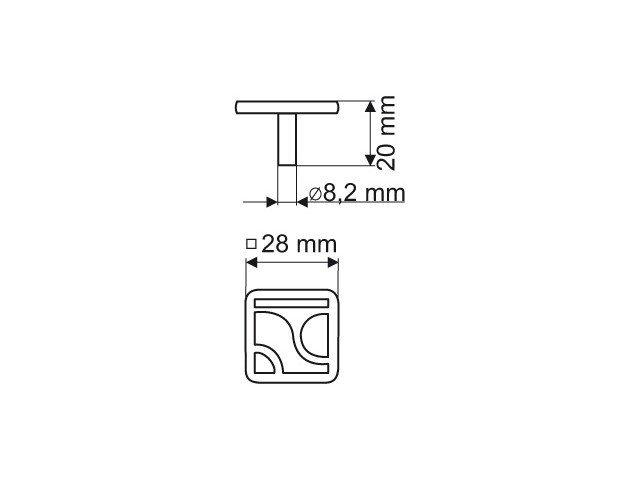 Gałka meblowa GR16 - patyna na mosiądzu
