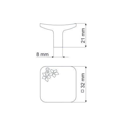 Gałka meblowa GU03 - chrom satynowy