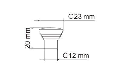 Gałka meblowa GA09 - chrom