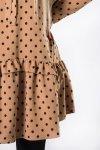 Sukienka trapezowa KOLA w groszki