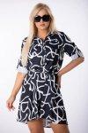 Rozkloszowana sukienka SYLWIA z printem
