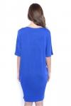 Sukienka-dzienna-plus-size-KESI-krotki-rekaw-niebieska-tyl