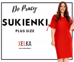 Sukienka plus size do pracy - duże rozmiary na wiosnę