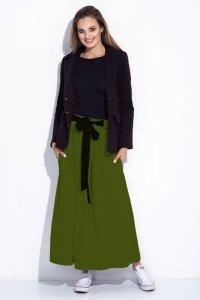 Spódnica maxi z kokardą w talii 252 Green