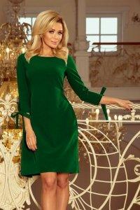 Sukienka damska S-XL ALICE 195-7 ZIELONA rozkloszowana