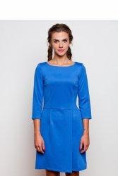 Kobieca sukienka oversize GR1598 Sky Blue