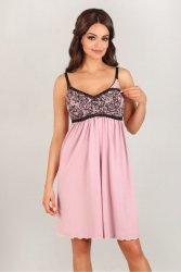 Koszula Nocna  Model 3007 Pink/Black