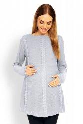 Sweter Ciążowy Model 40005C Grey