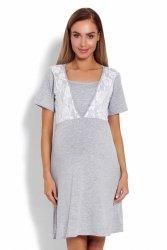Koszula Nocna Ciążowa Model 1680 Grey