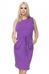 Sukienka dzienna S-XL 0122 Fioletowa
