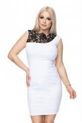 Sukienka S-XL 0108 biała