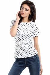 T-shirt Damski Model MOE171 Model 1 White