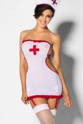 Kostium damski erotyczny XL Pielęgniarka PERSEA White/Red