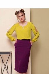Klasyczna spódnica midi GR1491 Purpura