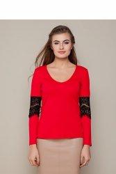 Miękka koszula z głębokim dekoltem GR1342 Red